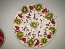 Kiwi-Banenen-Erdbeer-Torte - Rezept