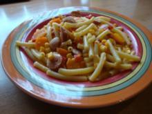 Gemüsepfanne mit Wienerle ala Andrea - Rezept