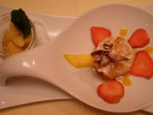 Ricotta im Knusperblatt mit Apfelragout - Rezept