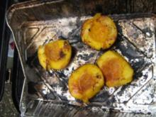Nektarinen karamelisiert  vom Grill - Rezept