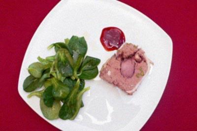 Rezept: Wildschweinterrine an Feldsalat mit Mangobalsam
