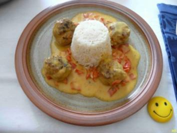 Hackfleisch : Fleischbällchen in Currysoße - Rezept