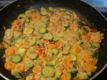 Gemüse: Sommerliches Pfannengemüse - Rezept