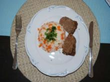 Hackfleisch : Gemüsereis mit Hackbraten aus der Gugelhupfform - Rezept