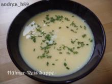 Hühner-Reis-Suppe - Rezept