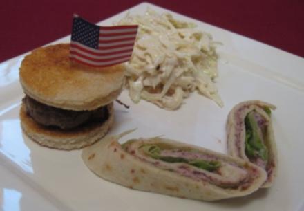 Mini-Burger, texanische Kidneybohnenrolle und Coleslaw - Cowboys Dream - Rezept