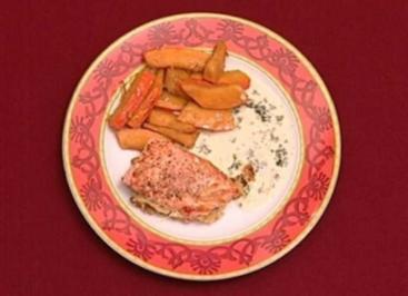 Seelachs mit Kartoffelkruste dazu Hokkaido-Kürbis (Carolin Fortenbacher) - Rezept