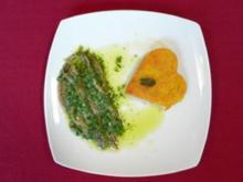 Acciughe al verde Sardellen in Kräuter-Soße aus Piemont mit Polentaherzchen - Rezept