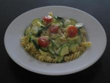 Gebratene Zucchini mit Nudeln - Rezept