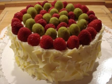 Sekt-Torte mit Himbeeren - Rezept