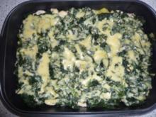 Hähnchen - Spinatauflauf mit Gorgonzola - Rezept
