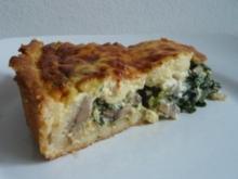 Spinat-Käse-Quiche - Rezept