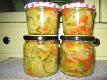 Sauer eingelegtes Gemüse - Rezept