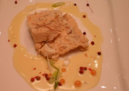 Forellenpastete an Weißweinsoße - Rezept