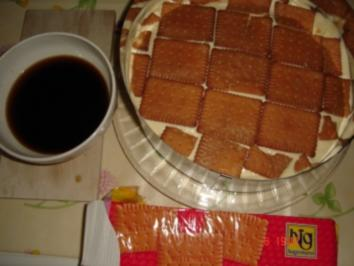 Butterkekskuchen mit Schokoüberzug - Rezept