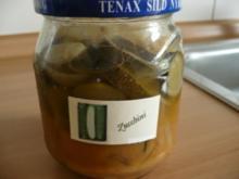 Eingelegte Zucchini - Rezept