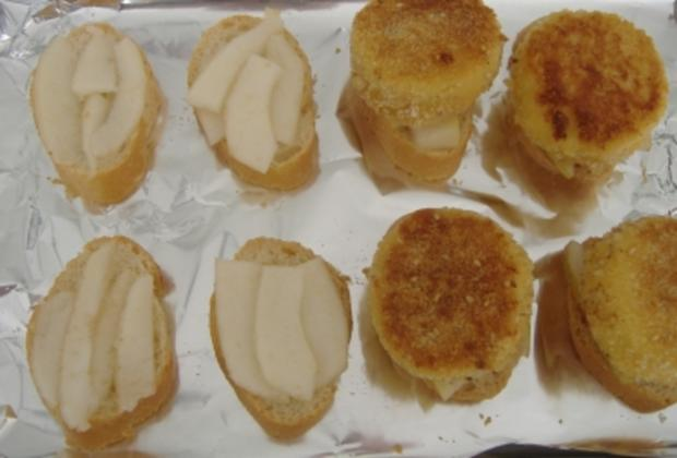 Crostini mit Birne und gebackenem Ziegenkäse - Rezept - Bild Nr. 2