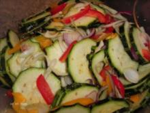 Zucchini süss sauer - Rezept