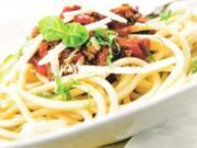 Spagetti mit Rindfleisch Paprika Sugo - Rezept