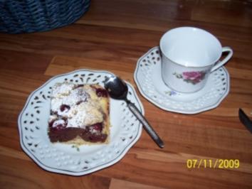 Kuchen - Marmorkuchen mit Kirschen ... - Rezept