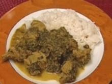Palak Gosht – Lamm mit Spinat - Rezept
