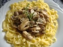 Streifen von Hähnchenbrustfilet in Steinpilzrahm - Rezept