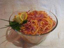 Rotkohl-Möhren-Salat mit Dill - Rezept