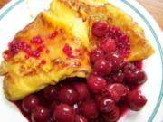Beschwipste Creps mit Kirschen - Rezept