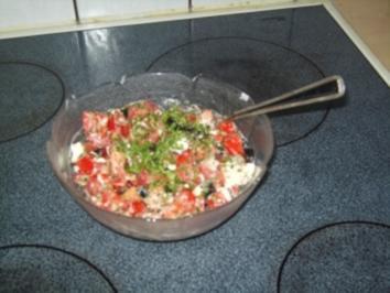 Tomaten- Salat mit Feta - Rezept