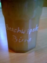 Beschwipste Birne - Rezept