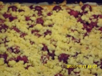 Rezept: Kuchen:  Sauerkirschkuchen mit Streuseln