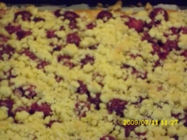Kuchen:  Sauerkirschkuchen mit Streuseln - Rezept