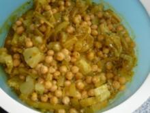 Kichererbsen-Zwiebel-Ananas-Curry-Salat - Rezept