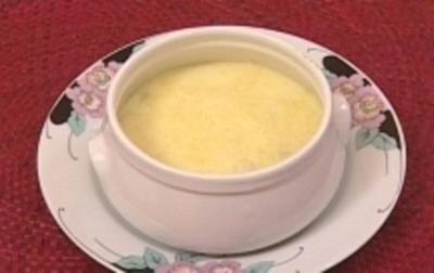 Überbackene Buttermilchsuppe - Rezept