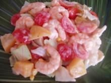 fruchtiger Scampi-Salat - Rezept