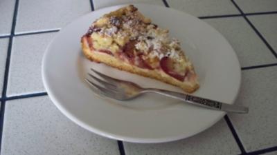Pflaumenkuchen aus Streuselteig - Rezept