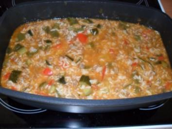 Gemüsepfanne mit Reis - Rezept