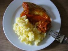 Hauptgericht --- Gefüllte Spitzpaprika mit Stampfkartoffeln - Rezept