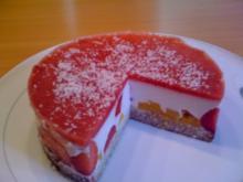Erdbeer - Kokos - Kuchen - Rezept
