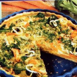 Broccoli Tarte mit Möhren - Rezept
