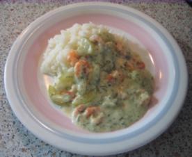 Gurken-Ragout mit Krabben - Rezept
