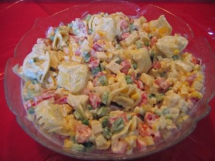 Tortellini-Salat o. Fleisch - Rezept