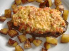 Rostbraten von Allgäuer Braunvieh mit Lauchtomaten und Käse überbacken - Rezept