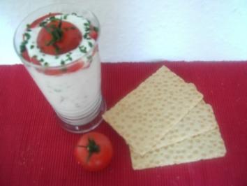 Tomatenquark mit Schnittlauch - Rezept
