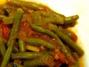 Grüne Bohnen mit frischen Tomaten - Rezept