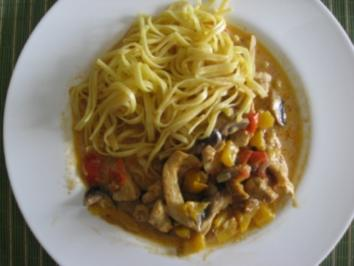Currygeschnetzeltes mit Tagliolini - Rezept