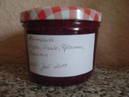 MARMELADE-KIRSCHE,TRAUBE,PFLAUME,BROMBEERE - Rezept