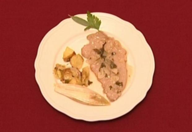 Hauchdünne Kalbsschnitzel in Salbei-Weißwein-Soße (Nils Brunkhorst) - Rezept