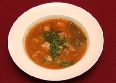 Fischsuppe mit Lauch und Kaiserschoten (Thomas Gumpert) - Rezept
