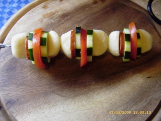 Kartoffelkloss - Spiesse vom Grill - Rezept - Bild Nr. 7